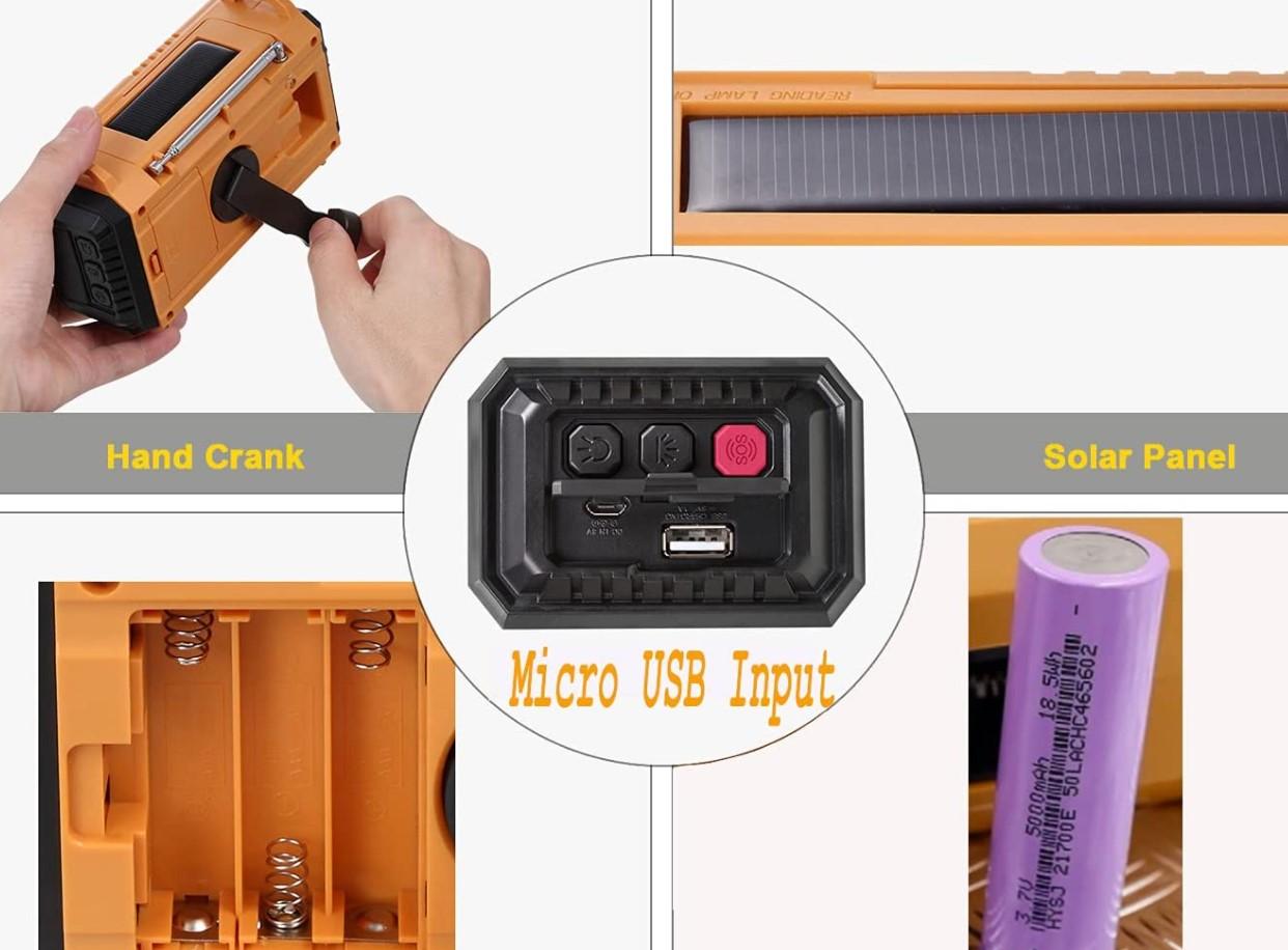 ,Solar Hand Crank Emergency Short wave Radio